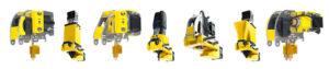 Toolheads disponibili: estrusore da 1.75 e 3.00 mm, laser per taglio ed incisioni, doppio estrusore dual pro, estrusore per alimenti, CNC.
