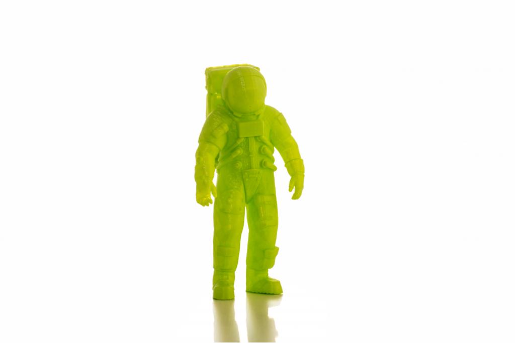 Modello astronauta realizzato con la stampante 3D Kentstrapper Verve