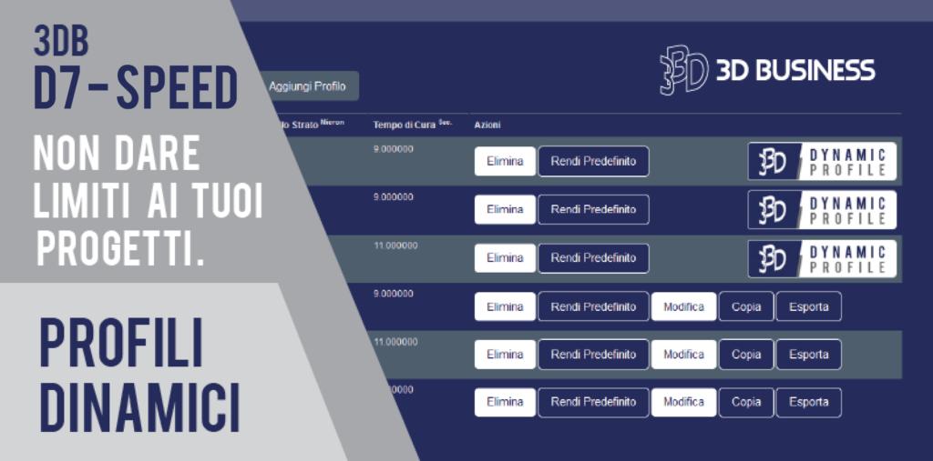 3D BUSINESS D7 DLP profili dinamici
